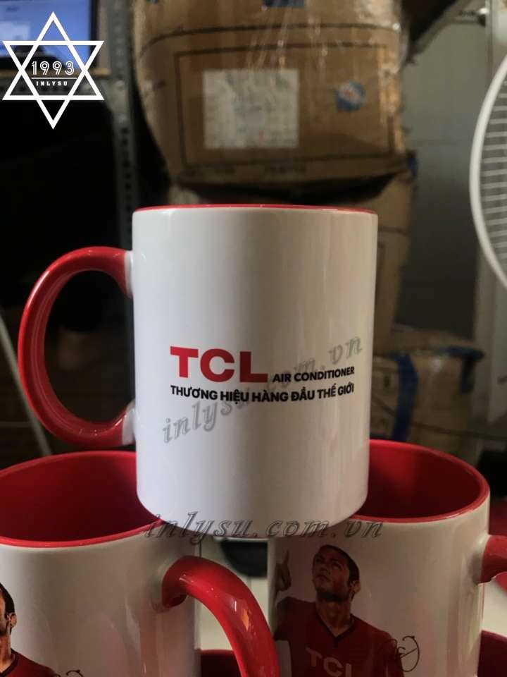 Ly sứ song màu in logo TCL