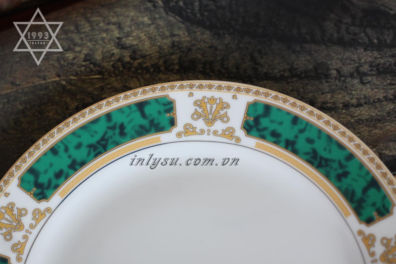 in đĩa sứ hoàng gia