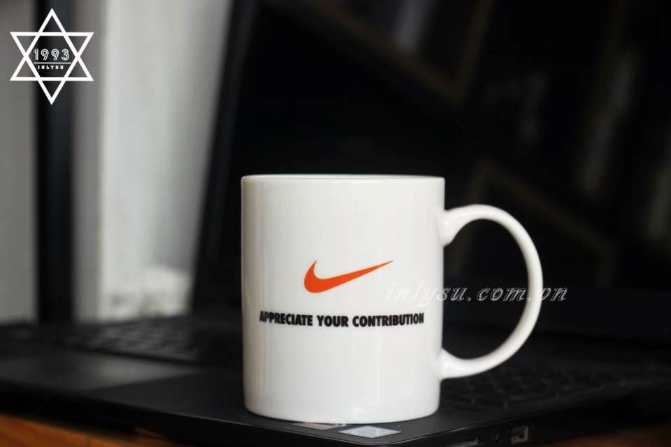 Ly sứ trắng ngà in logo Nike - Appreciate your contribution