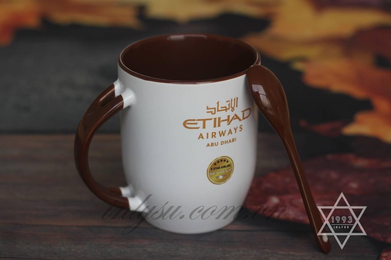 Ly sứ in hình hãng hàng không Etihad - Abu Dabi