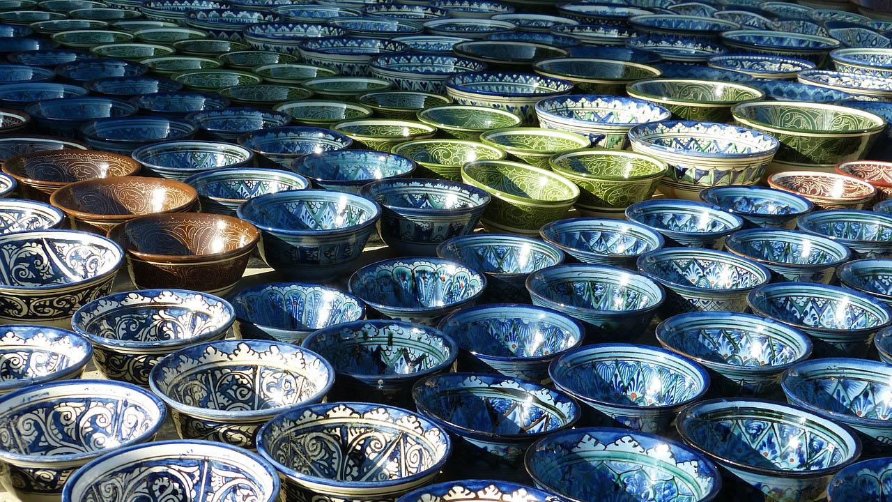 Sản phẩm gốm sứ có nhiều màu sắc và chủng loại
