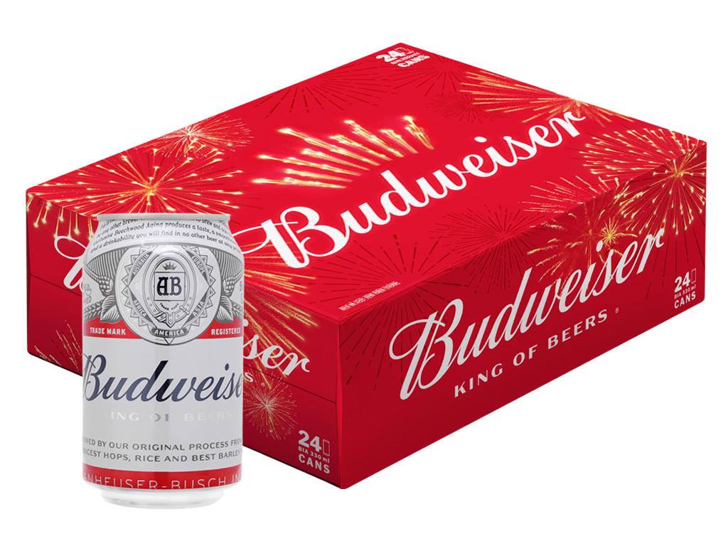Bia thùng Budweiser - Quà tặng cho công nhân ngày 1/5
